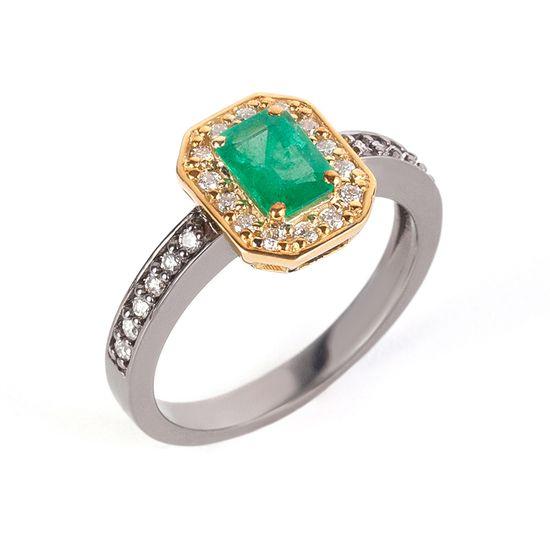 anel-ouro-negro-amarelo-esmeralda-brilhantes