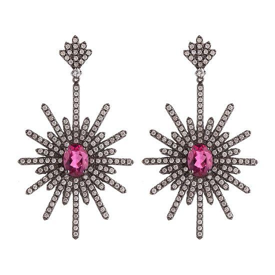 brinco-ouro-negro-turmalina-rosa-brilhante