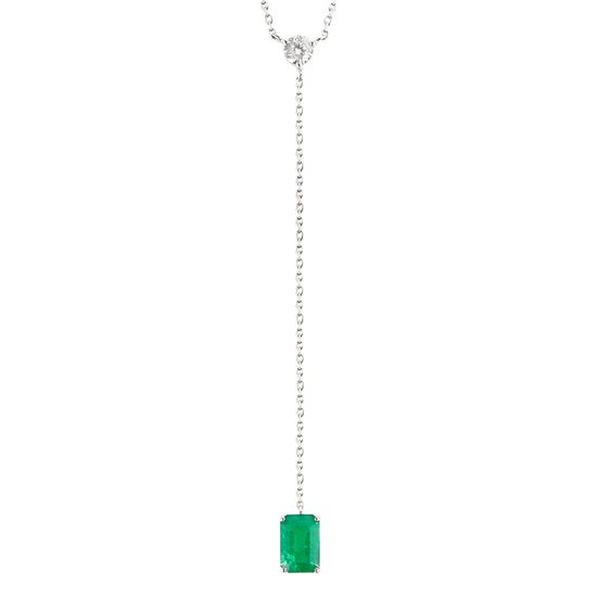 colar-choker-ouro-branco-gravatinha-esmeralda-brilhante-detalhe-COOBESM98600