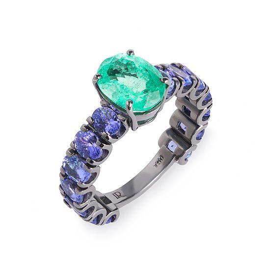 anel-esmeralda-tanzanita-lateral