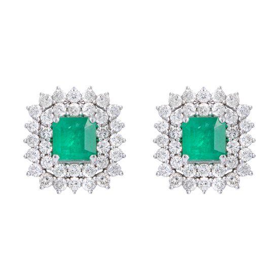 brinco-esmeralda-quadrada-brilhantes