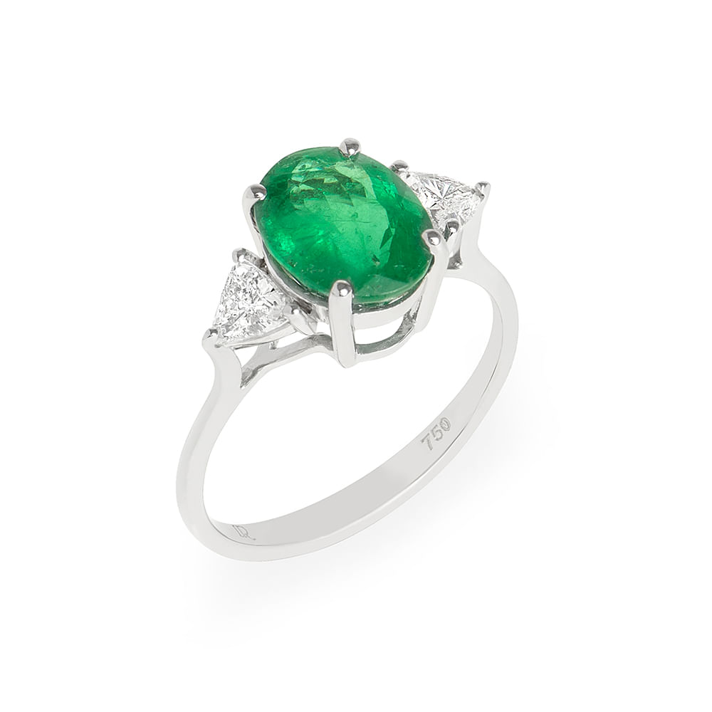 4607d7b23a842 Anel esmeralda 2,14cts e diamantes brancos - venturelegner