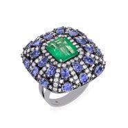 anel-esmeralda-tanzanitas-brilhantes-brancos