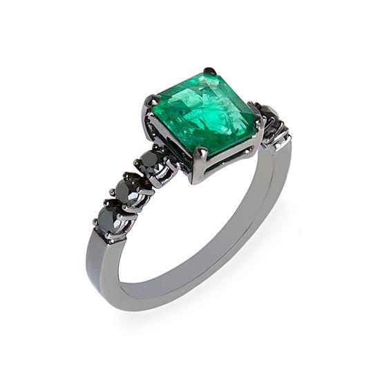 anel-ouro-negro-esmeralda-diamante-negro